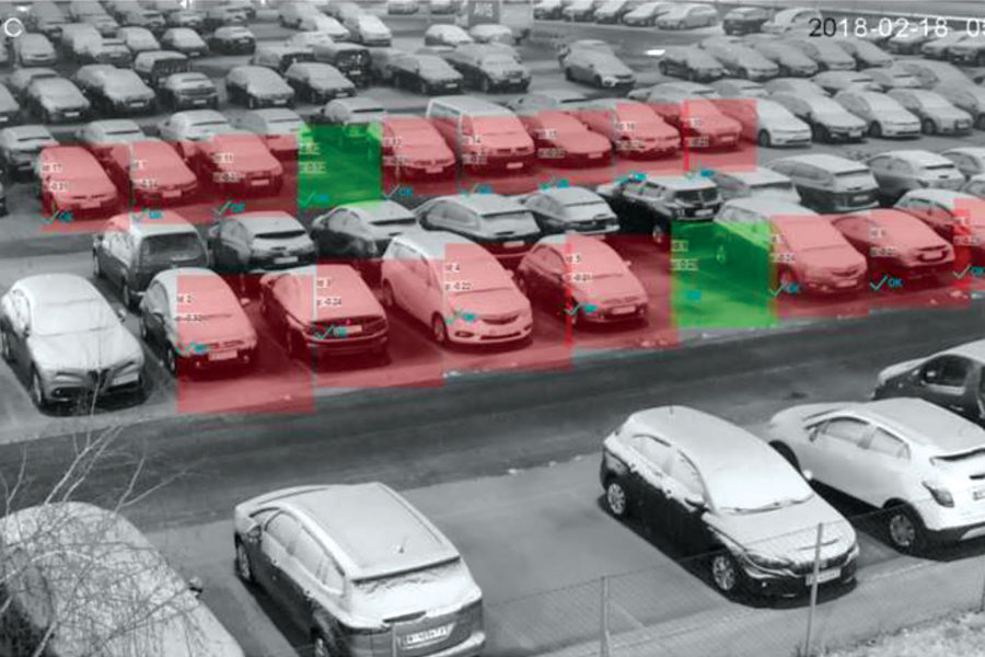 INDECT's Outdoor Camera System Provides 100% Coverage for Rooftop Parking and Open-Air Parking Lots