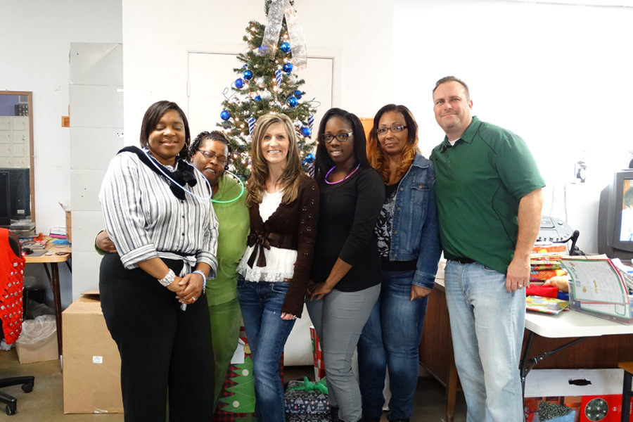 Parking Guidance System Rep Firm Hosts Christmas Lunch at Center for Adults with Developmental Disabilities.